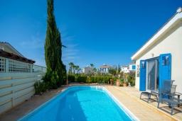 Бассейн. Кипр, Аргака : Роскошная вилла с террасой на крыше с lounge-зоной и потрясающим видом на Средиземное море, с 2-мя спальнями, с бассейном,  расположена в 300 метрах от пляжа Argaka Beach