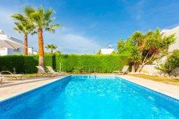 Бассейн. Кипр, Нео Хорио : Вилла с видом на море, с 3-мя спальнями, с бассейном, тенистой террасой с патио и барбекю, расположена недалеко от пляжа Neo Chorio 2 Beach