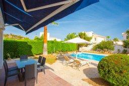 Терраса. Кипр, Нео Хорио : Вилла с видом на море, с 3-мя спальнями, с бассейном, тенистой террасой с патио и барбекю, расположена недалеко от пляжа Neo Chorio 2 Beach