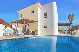 Фасад дома. Кипр, Каво Марис Протарас : Прекрасная двухэтажная вилла с 3-мя спальнями, с открытым бассейном и настольным теннисом и уютным патио