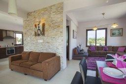 Гостиная. Кипр, Коннос Бэй : Прекрасная вилла с 3-мя спальнями, с частным открытым бассейном, большой территорией с зеленым садом, барбекю и традиционной глиняной печью
