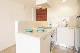 Кухня. Кипр, Каво Марис Протарас : Апартамент на побережье с 1 спальней и панорамным видом на море, на вилле с бассейном и прекрасной зеленой лужайкой