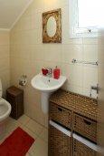 Ванная комната. Кипр, Нисси Бич : Красивая вилла с 2-мя спальням, с большим частным бассейном, традиционной глиняной печью и частной парковкой