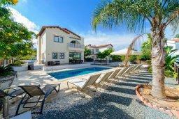 Фасад дома. Кипр, Санрайз Протарас : Современная вилла с 3-мя спальнями, с открытым частным бассейном и прекрасным садом с пальмами