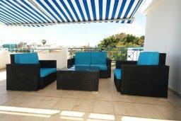 Балкон. Кипр, Гермасойя Лимассол : Апартамент в комплексе с бассейном, с большой гостиной, тремя отдельными спальнями и двумя ванными комнатами, для 6 человек