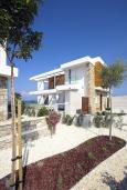 Фасад дома. Кипр, Пафос город : Потрясающая вилла с панорамным видом на море, с 3-мя спальнями, с бассейном и солнечной террасой, расположена в Пафосе
