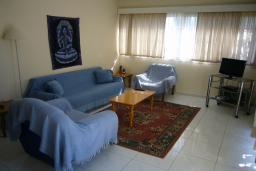 Гостиная. Кипр, Мутаяка Лимассол : Апартамент 1 спальня, верхний этаж