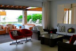 Кипр, Пафос город : Великолепная вилла с 4-мя спальнями, с бассейном, зелёным садом и тенистой террасой с патио, расположена в Пафосе