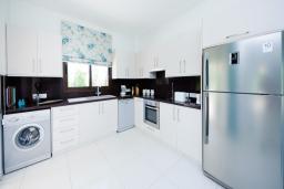 Кухня. Кипр, Коннос Бэй : Роскошная вилла с бассейном и джакузи, с 4-мя спальнями, зелёным садом, lounge-зоной, барбекю и сауной