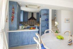 Кухня. Кипр, Каппарис : Вилла на берегу моря с большим садом и уютным патио с барбекю, расположена около пляжа Malama Beach