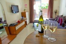 Гостиная. Кипр, Центр Айя Напы : Уютный апартамент с отдельной спальней и приватным садом с барбекю