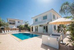 Фасад дома. Кипр, Пернера Тринити : Потрясающая вилла с видом на море, с 3-мя спальнями, с бассейном, солнечной террасой с патио и барбекю