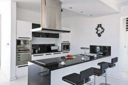 Кухня. Кипр, Санрайз Протарас : Шикарная вилла с панорамным видом на море, с 3-мя спальнями, с большим бассейном, солнечной террасой с патио и  барбекю