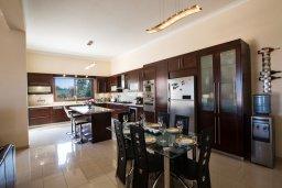 Кухня. Кипр, Санрайз Протарас : Роскошная вилла с панорамным видом на море, с 7-ю спальнями, игровой комнатой, с большим бассейном, прекрасным садом с кухней и баром с барбекю
