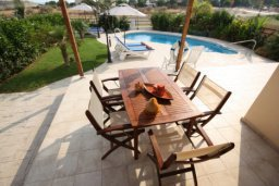 Терраса. Кипр, Писсури : Вилла с бассейном, большой гостиной, 3 спальни, 3 ванные комнаты, место для барбекю, дворик, парковка, Wi-Fi