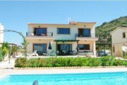 Фасад дома. Кипр, Писсури : Вилла с бассейном и зеленым двориком, большой гостиной, 3 спальни, 2 ванные комнаты, место для барбекю, парковка, Wi-Fi