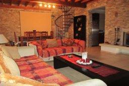 Гостиная. Кипр, Писсури : Вилла с бассейном, гостиная, 2 спальни, место для барбекю, зеленый дворик, парковка, Wi-Fi