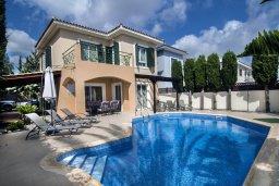 Фасад дома. Кипр, Пейя : Великолепная вилла с видом на море, с 3-мя спальнями, с бассейном, солнечной террасой и барбекю