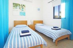Спальня 3. Кипр, Санрайз Протарас : Роскошная двухэтажная вилла с 3-мя спальнями, с приватным садом с барбекю и просторным бассейном