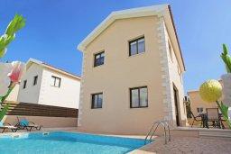 Фасад дома. Кипр, Коннос Бэй : Комфортабельная двухэтажная вилла с 3-мя спальнями, с бассейном и патио
