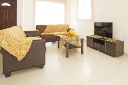 Гостиная. Кипр, Коннос Бэй : Уютная вилла с 3-мя спальнями, с бассейном и приватным двориком с патио, расположена у национального парка Cape Greco