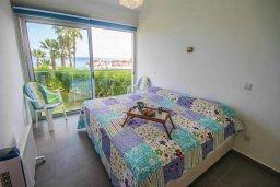 Спальня. Кипр, Пернера Тринити : Потрясающий апартамент на побережье, с 2-мя спальнями, с меблированной верандой и панорамным видом на море