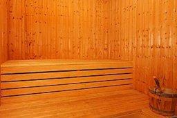 Сауна. Кипр, Си Кейвз : Прекрасная вилла с 2-мя спальнями, с бассейном, сауной, джакузи и барбекю