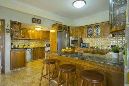 Кухня. Кипр, Центр Айя Напы : Потрясающая вилла с 4-мя спальнями, просторным зелёным садом с беседкой и традиционной глиняной печью
