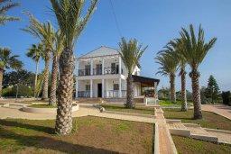 Фасад дома. Кипр, Центр Айя Напы : Потрясающая вилла с 4-мя спальнями, просторным зелёным садом с беседкой и традиционной глиняной печью
