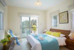 Спальня. Кипр, Санрайз Протарас : Шикарная вилла с 3-мя спальнями, с бассейном и патио, с частным садом с бильярдом и настольным теннисом