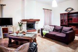 Гостиная. Кипр, Нисси Бич : Роскошная вилла с 5-ю спальнями, с бассейном, зелёным двориком, патио, джакузи и барбекю