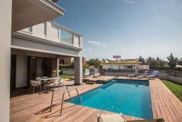Бассейн. Кипр, Нисси Бич : Современная вилла с бассейном и зеленым двориком, 3 спальни, 2 ванные комнаты, барбекю, парковка, Wi-Fi