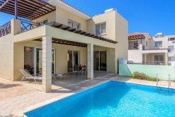 Фасад дома. Кипр, Коннос Бэй : Потрясающая вилла с 3-мя спальнями, с бассейном, тенистой террасой с патио и барбекю