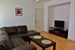 Гостиная. Кипр, Ларнака город : Прекрасный апартамент в комплексе с бассейном, с большой гостиной, двумя спальнями, двумя ванными комнатами и балконом