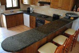 Кухня. Кипр, Хлорака : Прекрасная вилла с патио и видом на море, общий бассейн, 3 спальни, 2 ванные комнаты, барбекю, парковка, Wi-Fi