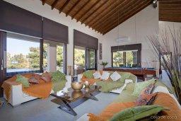 Гостиная. Кипр, Лачи : Шикарная вилла с видом на море, с 3-мя спальнями, с патио, барбекю, бильярдом и с большим бассейном в окружении соснового леса