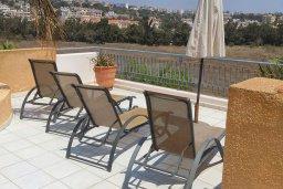 Балкон. Кипр, Пафос город : Роскошный пентхаус в комплексе с бассейном, 3 спальни, 2 ванные комнаты, парковка, Wi-Fi
