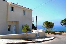 Фасад дома. Кипр, Си Кейвз : Прекрасная вилла с бассейном и видом на море, 3 спальни, 3 ванные комнаты, парковка, Wi-Fi
