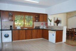 Кухня. Кипр, Корал Бэй : Просторная вилла с 6-ю спальнями, с бассейном и зелёным двориком с патио, барбекю, настольным теннисом и бильярдом, расположена в самом сердце Coral Bay