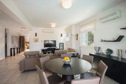 Гостиная. Кипр, Фиг Три Бэй Протарас : Роскошная вилла на берегу моря, с 4-мя спальнями, с бассейном, красивым зелёным садом с патио и барбекю, расположена в 20 метрах от прекрасного уединенного пляжа
