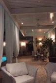 Патио. Кипр, Айос Тихонас Лимассол : Эклектичная частная вилла с 4-мя спальнями для восьми гостей в старинном бутик-стиле в Лимассоле с бассейном, барбекю и lounge-зоной