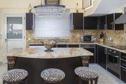 Кухня. Кипр, Декелия - Ороклини : Роскошная вилла с бассейном в 50 метрах от пляжа, 3 спальни, 3 ванные комнаты, барбекю, парковка, Wi-Fi