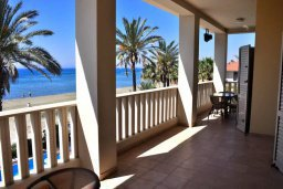 Терраса. Кипр, Декелия - Ороклини : Роскошная пляжная вилла в Ларнаке с бассейном и двориком с барбекю, 5 спален, 5 ванных комнат, парковка, Wi-Fi