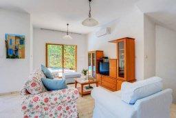 Гостиная. Кипр, Пиргос : Прекрасная вилла с бассейном в 100 метрах от пляжа, 3 спальни, 2 ванные комнаты, парковка, Wi-Fi