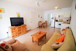 Гостиная. Кипр, Пейя : Современный апартамент в комплексе с бассейном, с гостиной, отдельной спальней и террасой