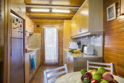 Кухня. Кипр, Троодос : Двухэтажный деревянный коттедж с большой зеленой территорией, 2 спальни, барбекю, парковка, Wi-Fi