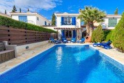Фасад дома. Кипр, Каво Марис Протарас : Уютная вилла с бассейном и двориком с барбекю, 3 спальни, 2 ванные комнаты, парковка, Wi-Fi