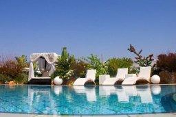 Бассейн. Кипр, Аммос - Лимнария Бич : Роскошная вилла с бассейном и зеленым двориком с барбекю, 3 спальни, 3 ванные комнаты, джакузи, парковка, Wi-Fi