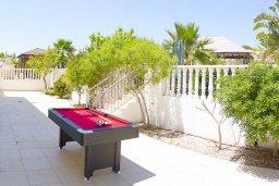 Территория. Кипр, Нисси Бич : Роскошная вилла с большим бассейном и зеленой территорией, 6 спален, 5 ванных комнат, беседка, патио, барбекю, джакузи, бильярд, парковка, Wi-Fi