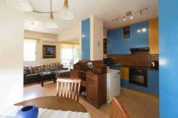 Кухня. Кипр, Центр Лимассола : Апартамент с гостиной, отдельной спальней и балконом с видом на парк